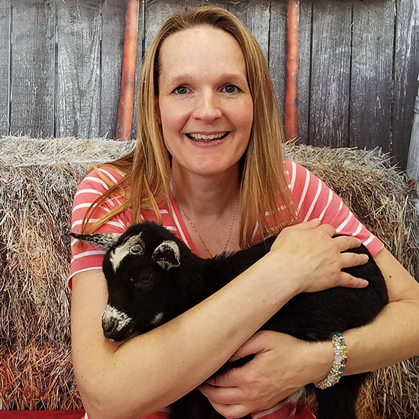 Jill with a Goat